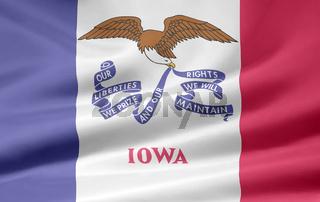 Flagge von Iowa - USA