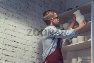 Man in pottery
