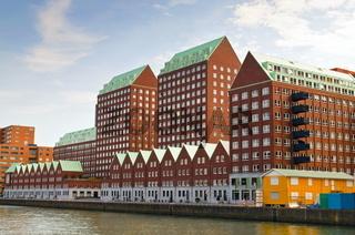 Dutch Urban style huge architecture in Amsterdam