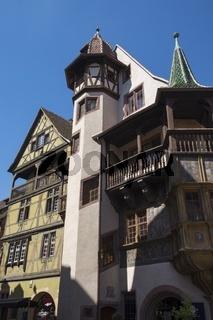 Colmar, das Haus Pfister, erbaut im Jahre 1537 in der Rue des Marchands