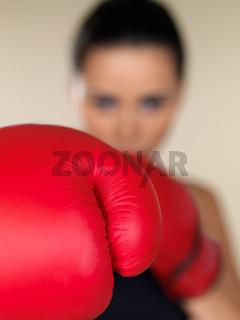 Brunette boxing girl