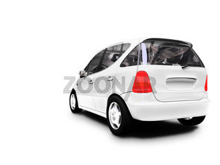 white car on a white background