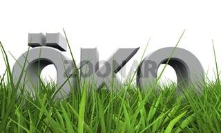 3D Öko im Gras Konzept