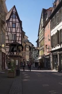 Colmar, Fußgängerzone in der Rue des Marchands