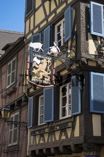 Colmar, Historisches Fachwerkhaus in der Rue des Serruriers, erbaut im Jahre 1540