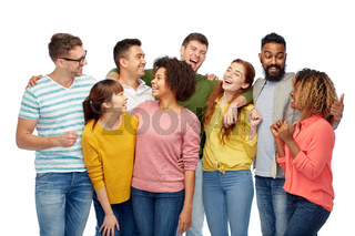 international group of happy laughing people