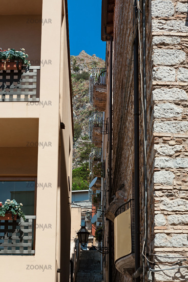 Alley in Taormina, Sicily, Italy