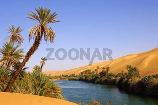 Wüstensee Um el Maa See, Libyen