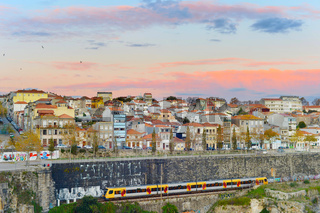 Train trip to Porto, Portugal