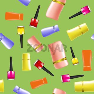 Colored Nail Polsh Seamless Pattern
