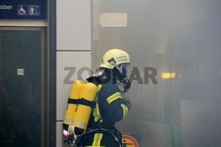 Feuerwehr im Einsatz (Übung)