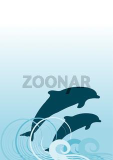 springende delfine, hintergrund