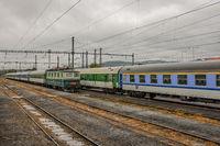 Abgestellte Züge in Chomutov (Tschechien)
