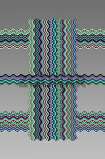 Geschwungene farbige Streifen