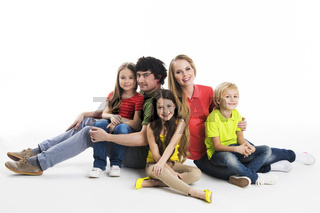 Portrait of family at studio