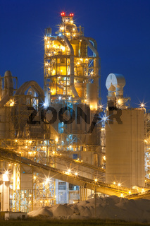 Factory / Chemical Plant At Night