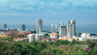 Blick über Süd-Pattaya Thailand
