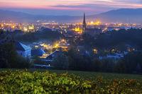 Linz panorama at sunrise