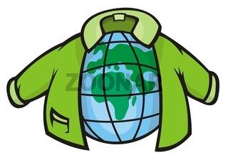 Globe with Jacket
