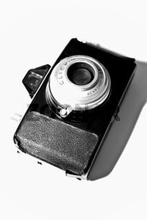 Alte Kamera im Hochformat