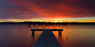 Glorious Australian sunset and jetty