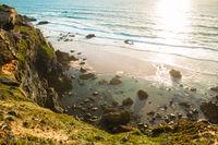 Beautiful landscapes of Fishermen's Trail, Trails Alentejo, Rota Vicentina hiking trail Portugal
