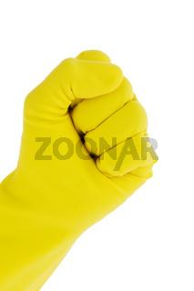 Handschuh einer Putzfrau