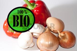 Gemüse und Eier
