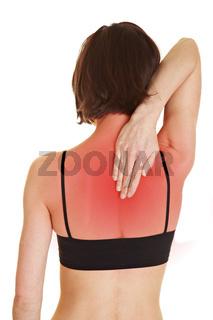 Frau mit schmerzendem Rücken