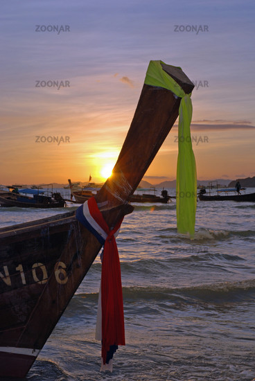 Sonnenuntergang, Ao Nang, Thailand, Asien / Sunset, Ao Nang, Thailand, Asia
