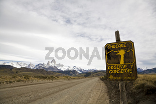 Strasse zum Fitz Roy Massiv, NP Los Glaciares, country road, Patagonia, South Amerika