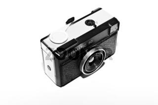 Kassetten Kamera auf einem weißen Hi