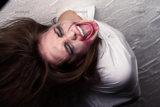 screaming crazy vampire