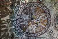 Kuppelgemälde mit neun Aposteln, Felsenkirche Abuna Yemata, Gheralta, Tigray, Äthiopien