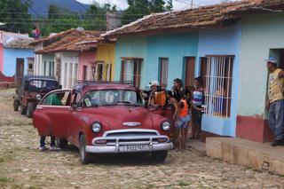 kubanisches Oldtimertaxi,Trinidad