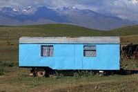 Wohnwagen von Viehhirten in Zentralkirgistan