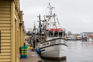 Fischkutter im Fischereihafen von Freest