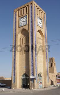 Uhrturm, Yazd, Iran, Asien