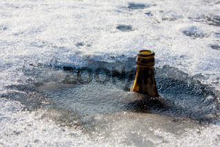 Flasche, Eis