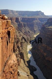 Grand Canyon North Rim, Nordrand, Toroweap point, Colorado river