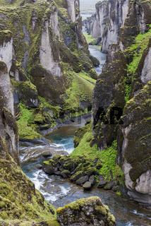 Fjadrargljufur Canyon and River