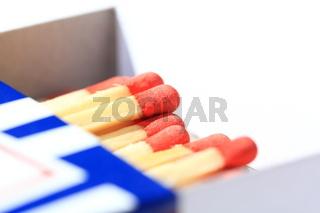Streichhölzer in einer Streichholzschachtel