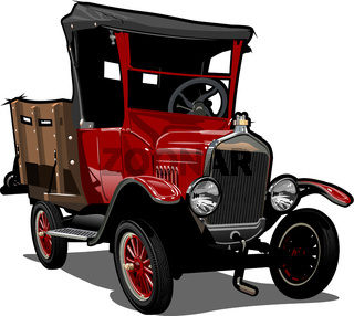 Vector Cartoon retro truck
