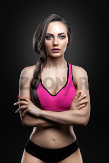 Fitness female looking at camera