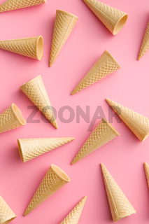 Sweet wafer cones.