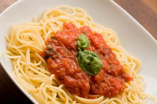 Spaghetti with Toamtoe Sauce