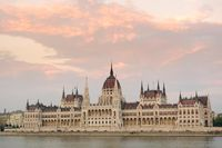 Hungarian Parliament in Budapest, Hungary