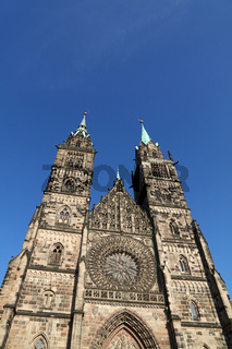 Saint Lawrence cathedral in Nuremberg, Germany