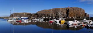 Der Hafen von Stykkisholmur auf Snæfellsnes in Island