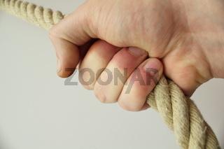 seil in der hand